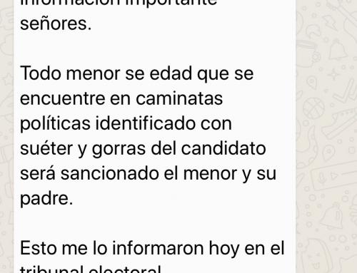 Falsa cadena de whatsapp sobre sanciones a menores por el TE